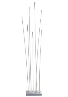 Lampadaire Giunco 7 tiges LED - Fabbian blanc en matière plastique