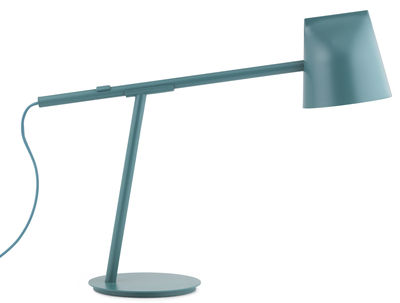 Lampe de table Momento LED / Orientable - H 44 cm - Normann Copenhagen bleu-vert en métal