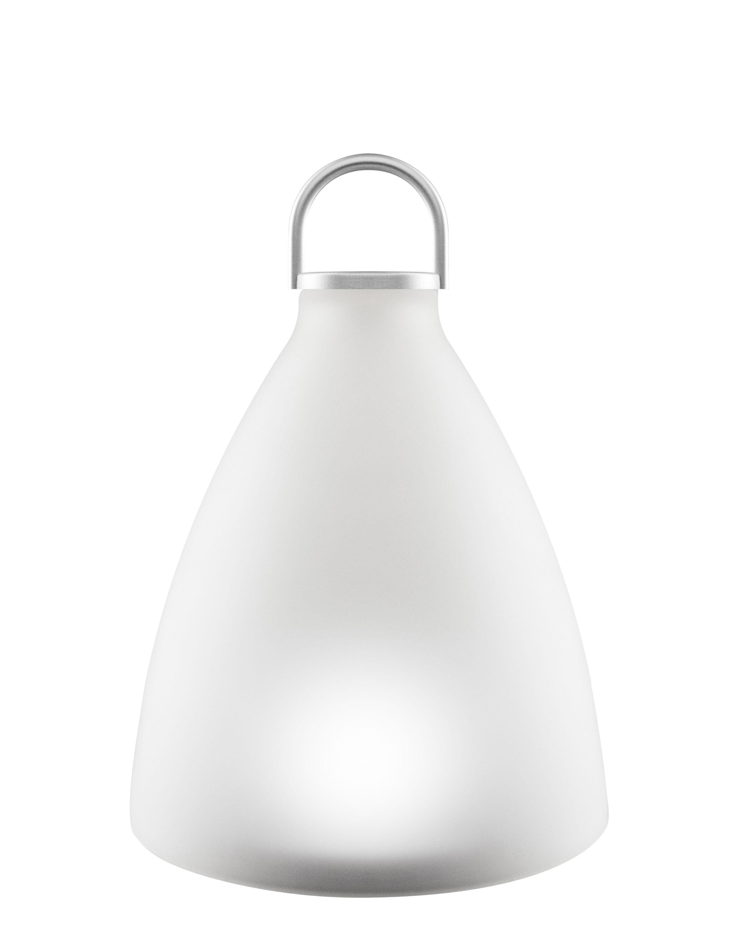 Luminaire - Lampes de table - Lampe solaire Sunlight Bell Small / LED - Verre - H 20 cm - Eva Solo - Small H 20 cm / Blanc - Aluminium anodisé, Verre dépoli pressé