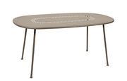 Table ovale Lorette 160 x 90 cm Métal perforé Fermob muscade en métal