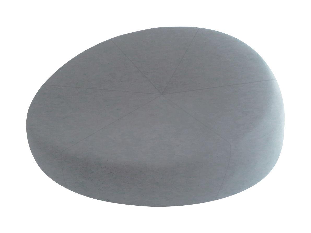 Möbel - Möbel für Teens - Nénuphares Né Lounge Sessel / Sofa - B 132 cm - Smarin - Hellgrau - Bultex, Wolle