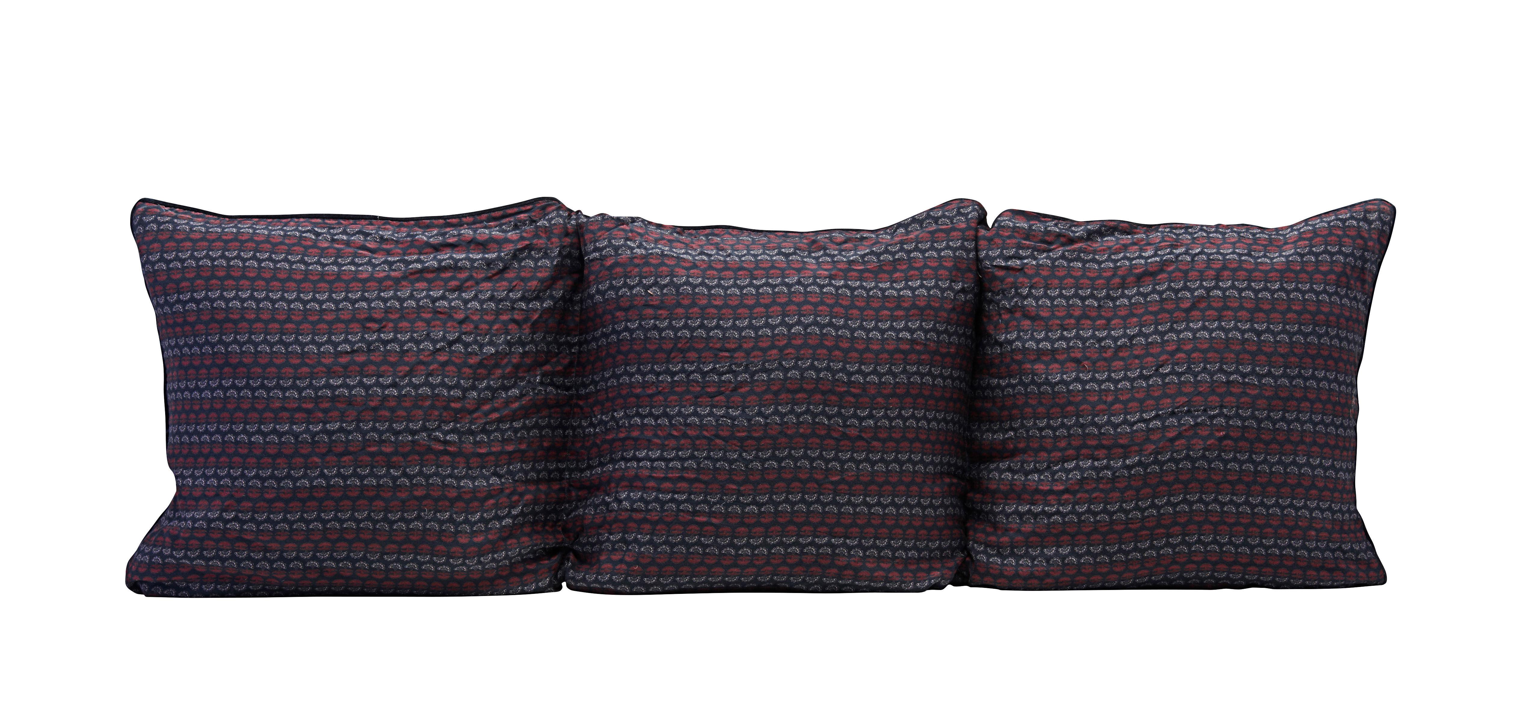 Mobilier - Compléments d'ameublement - Matelas Valentina / 150 x 50 cm - House Doctor - Bleu & rouge - Coton, Viscose