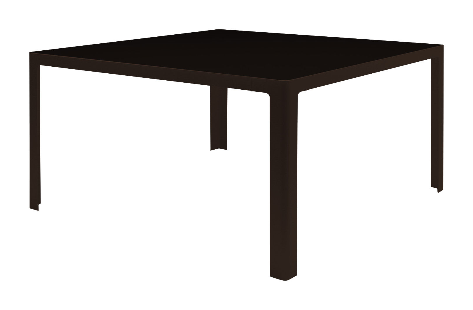 Furniture - Dining Tables - Metisse Table carrée - square - 140 x 140 cm by Zeus - Black top / Black copper frame - Glass, Steel