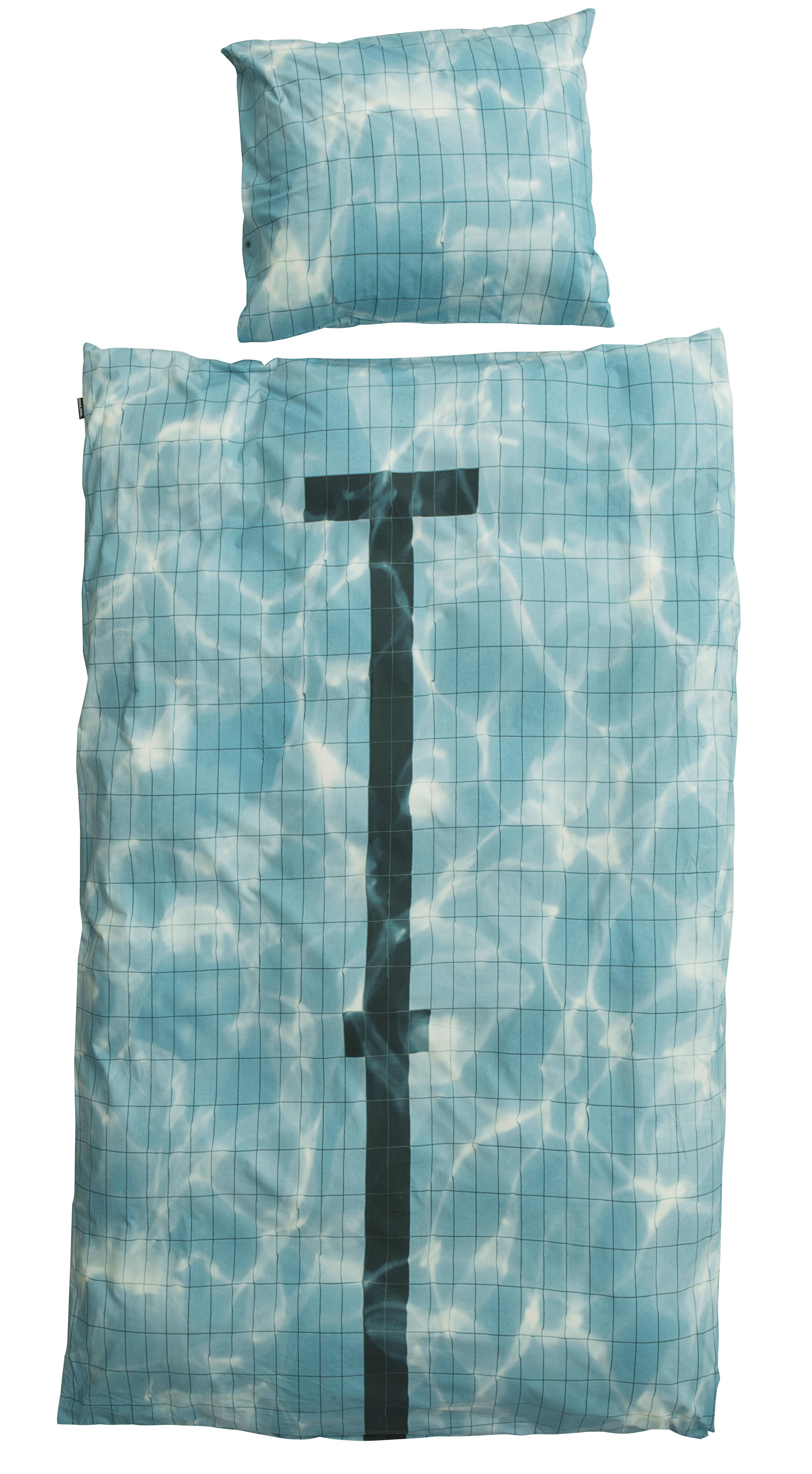 Déco - Pour les enfants - Parure de lit 1 personne Pool / 140 x 200 cm - Snurk - Piscine - Percale de coton
