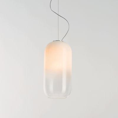 Lighting - Pendant Lighting - Gople LED RWB Pendant - / Promotes plant growth by Artemide - White / Transparent gradient - Aluminium, Blown glass