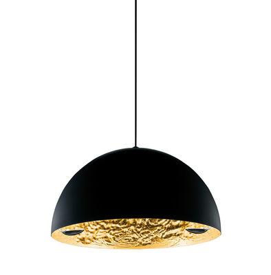 Lighting - Pendant Lighting - Stchu-moon 02 Pendant - LED / Ø 60 cm by Catellani & Smith - Gold - Aluminium, Gold-coloured sheet, Polyurethane foam
