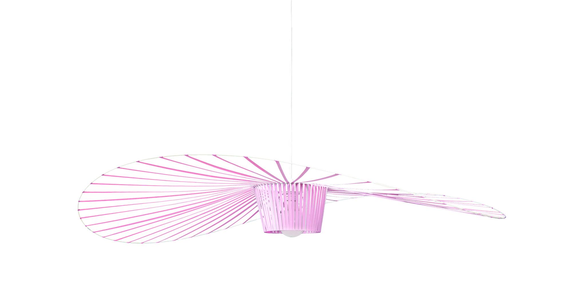 Leuchten - Pendelleuchten - Vertigo Small Pendelleuchte / Ø 140 cm - 5-Jahre-Jubiläumsedition - Petite Friture - Hellrosa - Glasfaser, Polyurhethan