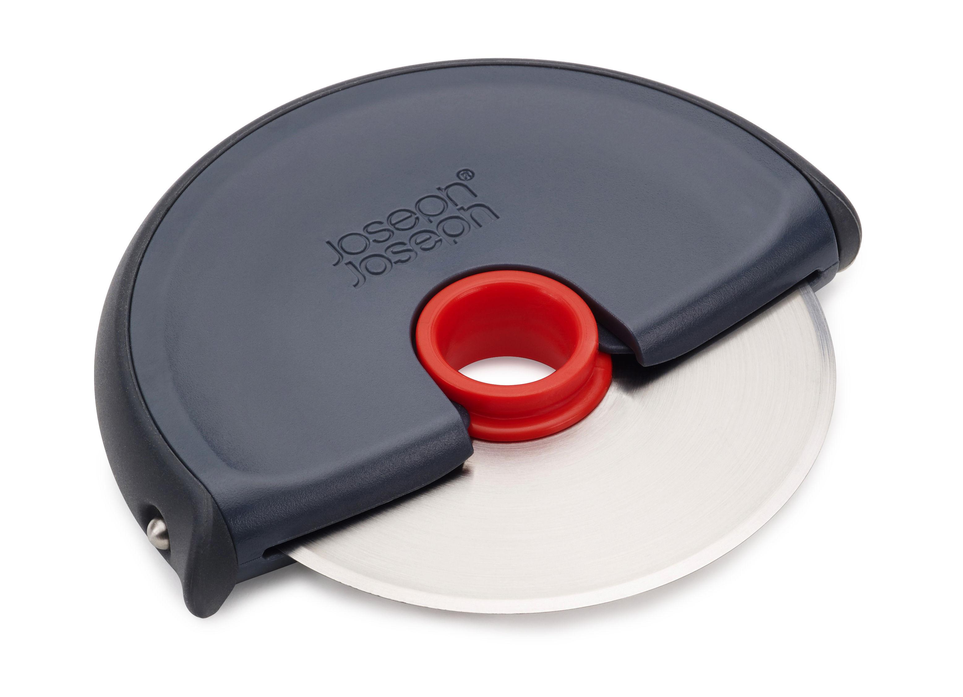 Küche - Küchenutensilien - Disc Pizzaschneider - Joseph Joseph - Grau / rot - Edelstahl, Silikon