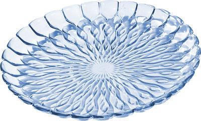 Plat Jelly /Centre de table - Ø 45 cm - Kartell bleu transparent en matière plastique