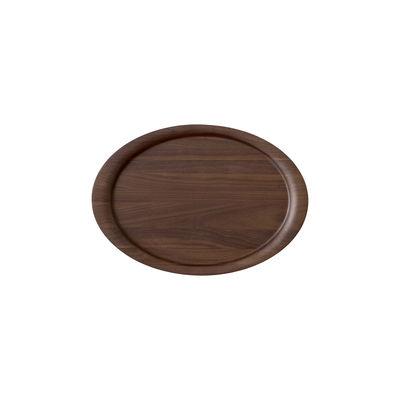 Arts de la table - Plateaux - Plateau Collect SC64 / 40 x 28 cm - Noyer massif - &tradition - Noyer - Noyer massif laqué