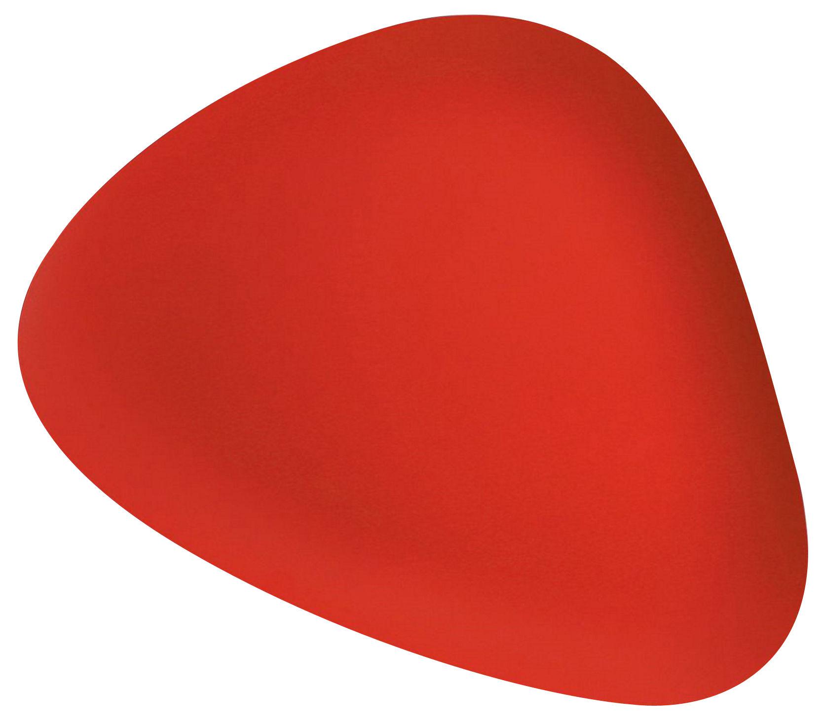 Arts de la table - Plateaux - Plateau Colombina / 51 x 40 cm - Alessi - Rouge - Acier inoxydable poli
