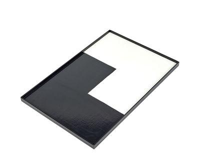 Plateau / Bois - 45 x 30 cm - Serax blanc,noir en bois