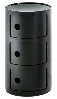 Arredamento - Mobili Ados  - Portaoggetti Componibili di Kartell - Nero - ABS