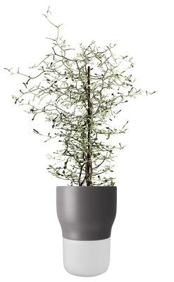 Déco - Pots et plantes - Pot à réserve d'eau / Large - Ø 13 x H 18 cm - Eva Solo - Gris nordique - Céramique, Verre dépoli soufflé bouche