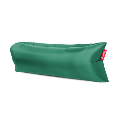Pouf gonflable Lamzac 3.0 / L 200 cm - Polyester - Fatboy Pouf gonflé : L 200 x larg. 90 cm x H 50 cm - Pouf plié : L 35 x Ø 18 cm vert en tissu