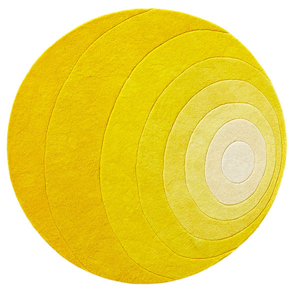 Decoration - Rugs - Luna Rug - / Ø 120 cm - Panton 1965 by Verpan - Yellow - Wool