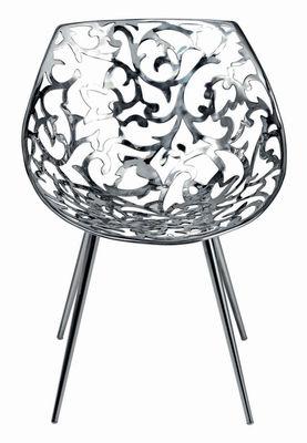 Möbel - Stühle  - Miss Lacy Sessel - Driade - Stahl - polierter Stahl