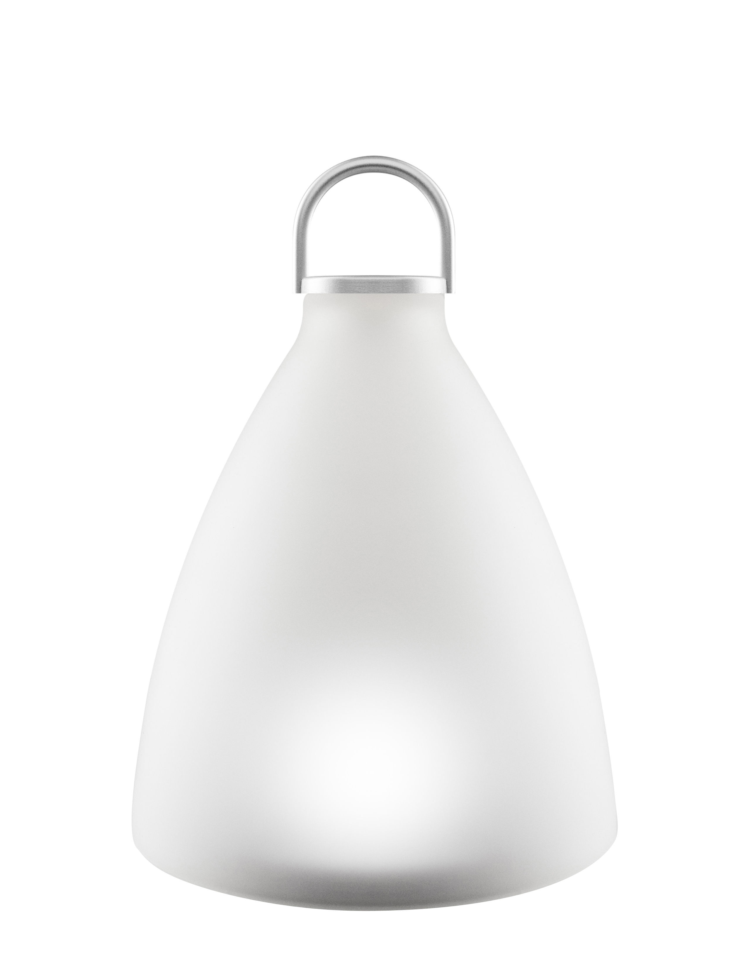 Lighting - Table Lamps - Sunlight Bell Small Solar lamp - / Wireless - H 20 cm by Eva Solo - White - Anodized aluminium, Pressed frosted glass