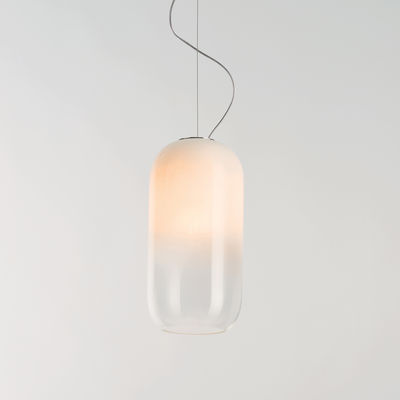 Illuminazione - Lampadari - Sospensione Gople LED RWB - / Favorisce la crescita delle piante di Artemide - Bianco / Sfumature trasparenti - Alluminio, vetro soffiato