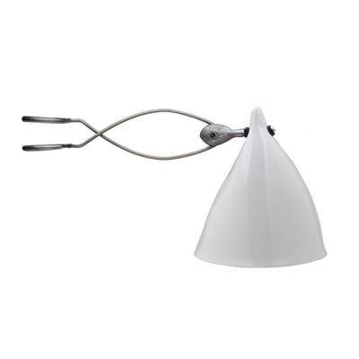 Luminaire - Lampes de table - Spot à pince Cornette en porcelaine - Tsé-Tsé - Porcelaine blanche émaillée - Porcelaine