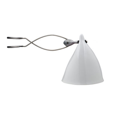 Spot à pince Cornette en porcelaine - Tsé-Tsé blanc en céramique
