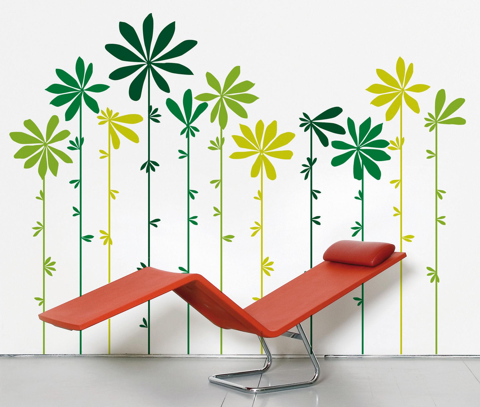 Déco - Stickers, papiers peints & posters - Sticker Tournesol Green - Domestic - Tons verts - Vinyle