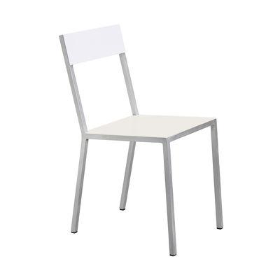 Möbel - Stühle  - Alu Stuhl - valerie objects - Sitzfläche elfenbeinfarben / Rückenlehne weiß - Aluminium