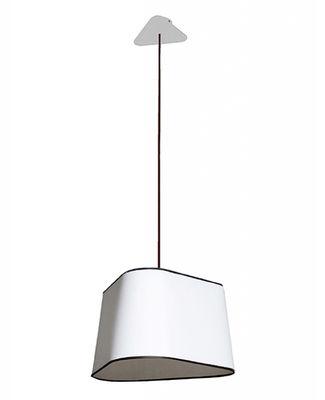 Suspension Grand Nuage L 43 cm / Version droite - Designheure blanc,noir en matière plastique