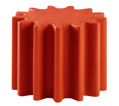 Mobilier - Tables basses - Table basse Gear / Pouf - Ø 55 x H 43 cm - Slide - Rouge - polyéthène recyclable