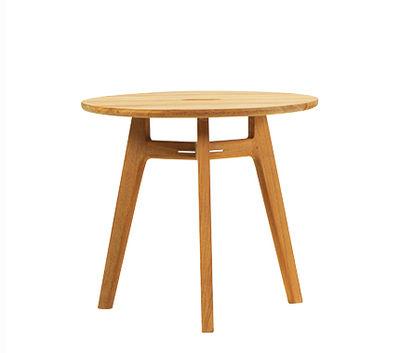 Table basse Knit / Ø 50 cm - Teck - Ethimo bois naturel en bois