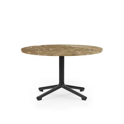 Table basse Lunar / Ø 70 x H 40 cm - Marbre sable - Normann Copenhagen marron/beige en pierre