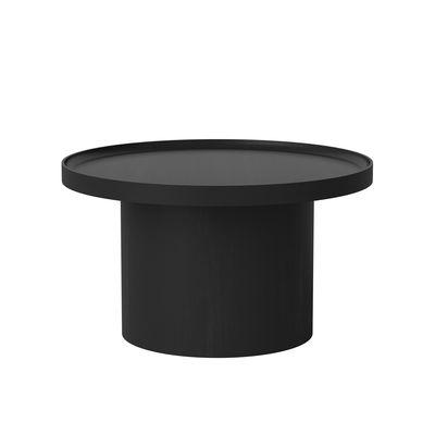 Table basse Plateau Large / Ø 74 x H 42 cm - Plateau amovible - Bolia noir en bois