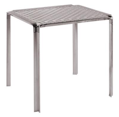 Table de jardin Ami Ami / 70 x 70 cm - Kartell fumé en métal