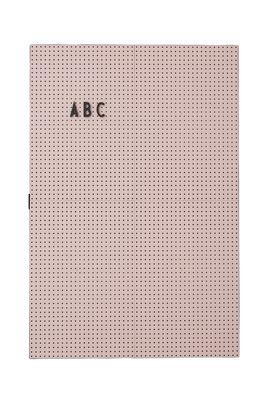 Tableau memo A3 / L 30 x H 42 cm - Design Letters rose en matière plastique