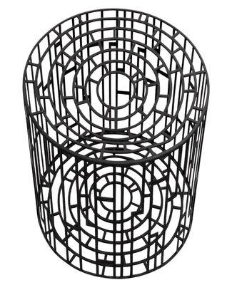 Mobilier - Tabourets bas - Tabouret Kub / Ø 28 x H 40 cm - Métal - Moroso - Noir - Acier verni