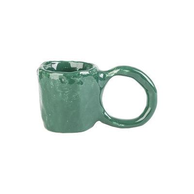 Arts de la table - Tasses et mugs - Tasse à espresso Donut Small / Edition limitée Noël 2020 - Fait main - PIA CHEVALIER - Vert sapin - Faïence émaillée