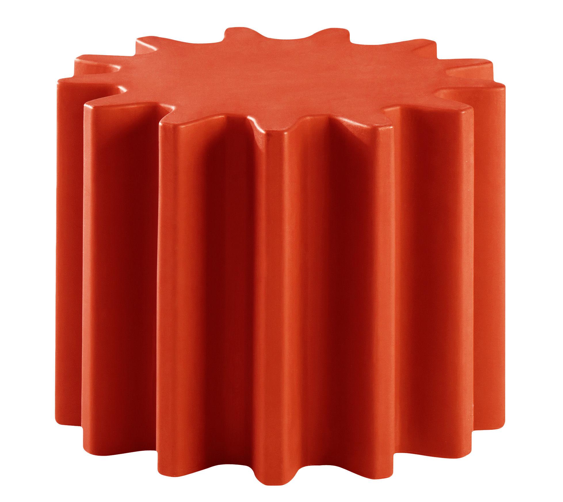 Arredamento - Tavolini  - Tavolino Gear - /Sgabello di Slide - Rosso - polyéthène recyclable