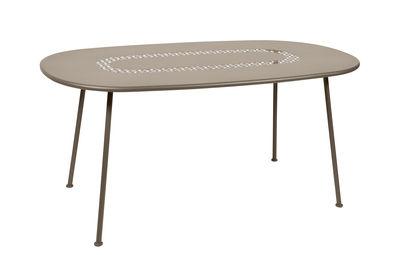Outdoor - Tavoli  - Tavolo ovale Lorette - / 160 x 90 cm - Metallo di Fermob - Noce moscata - Acciaio laccato