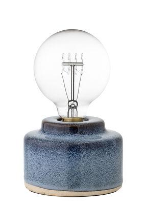 Tischleuchte / Porzellan - Ø 12 cm x H 9 cm - Bloomingville - Blau