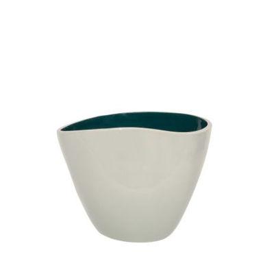 Déco - Vases - Vase Double Jeu / Small - H 21 cm - Maison Sarah Lavoine - Blanc / Bleu Sarah - Céramique