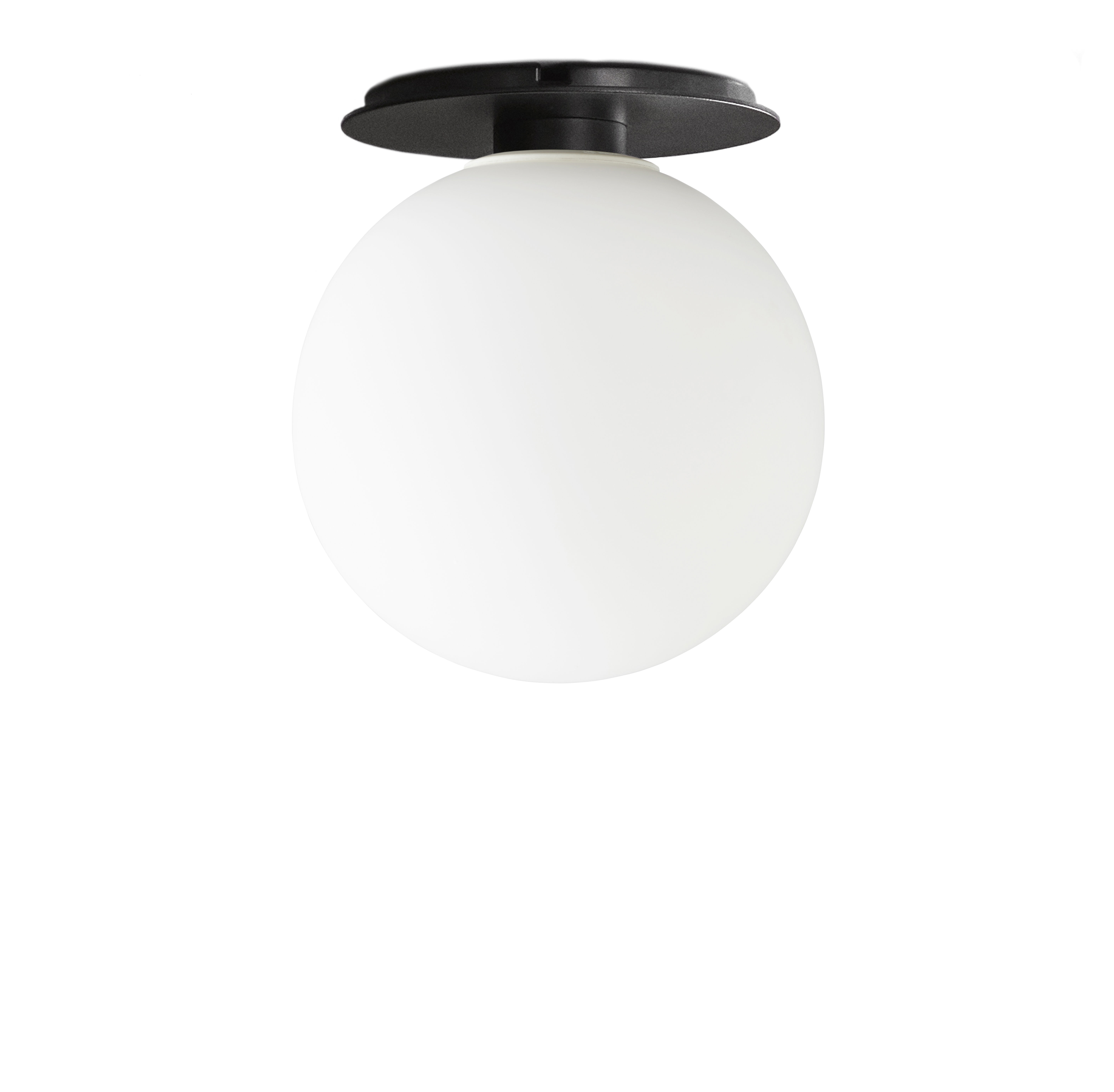Lighting - Wall Lights - TR Bulb Wall light - / Wall lamp - Metal & glass by Menu - White & Black - Lacquered steel, Opal Glass