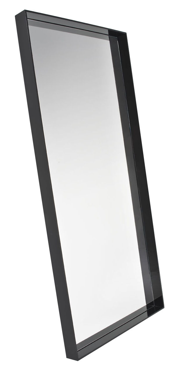 Furniture - Mirrors - Only me Wall mirror - / L 80 x H 180 cm by Kartell - Black - PMMA