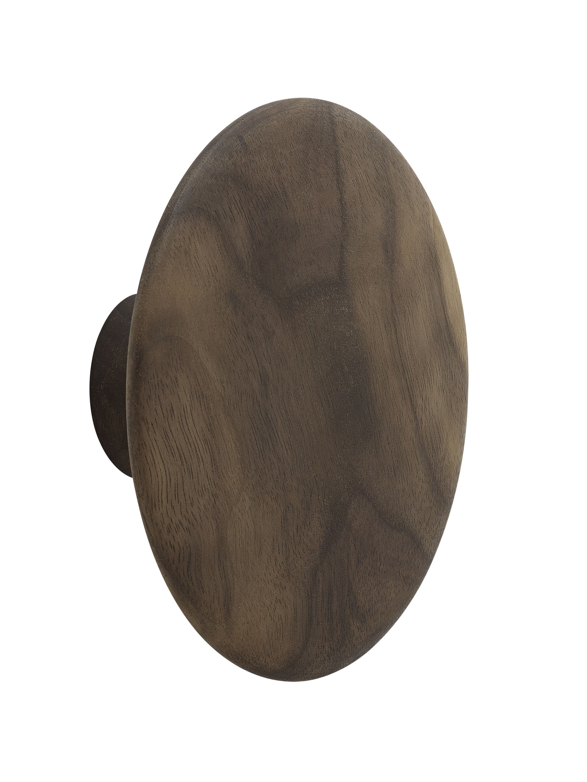 Interni - Rastrelliere e Ganci - Appendiabiti The Dots Wood - / Medium - Ø 13 cm di Muuto - Noce naturale - Noyer naturel