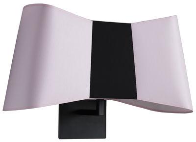 Applique Grand Couture / L 50 cm - Designheure noir,rose pâle en métal