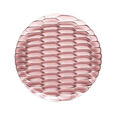 Assiette à dessert Jellies Family / Ø 21,5 cm - Kartell rose en matière plastique