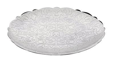 Arts de la table - Plateaux et plats de service - Assiette de présentation Dressed for X-mas / Ø 26 cm - Acier - Alessi - Acier - Acier inoxydable poli