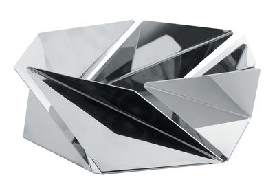 Tableware - Fruit Bowls & Centrepieces - Kaleidos Basket by Alessi - Mirror polished steel - Polished mirror stainless steel