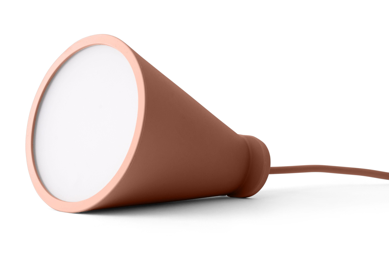 Luminaire - Lampes de table - Bladeuse Bollard / à poser ou suspendre - H 13 cm - Menu - Nude - Plastique, Silicone
