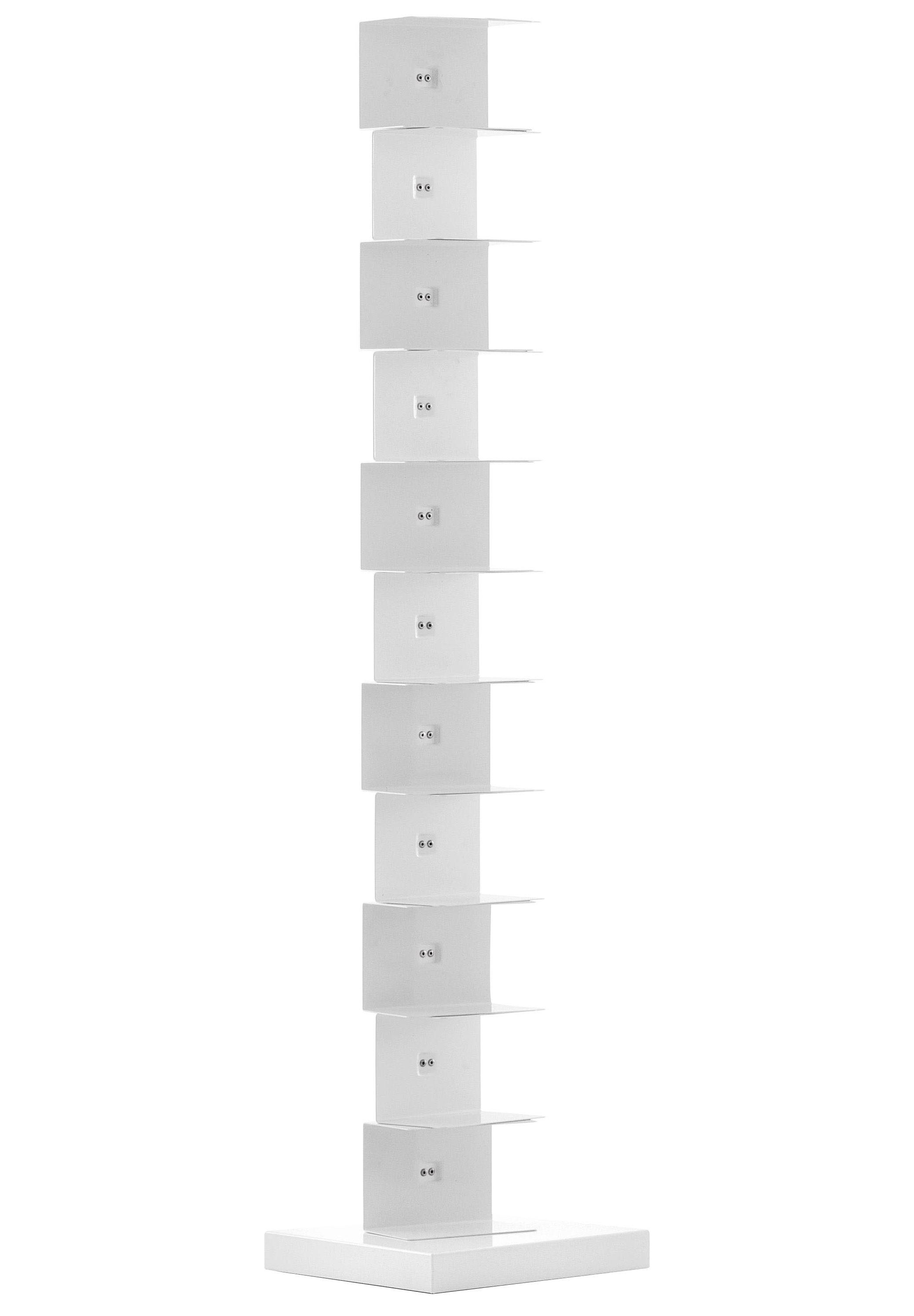 Möbel - Regale und Bücherregale - Ptolomeo Bücherregal 1-seitig - H 160 cm - Opinion Ciatti - H 160 cm - Weiß - lackierter Stahl