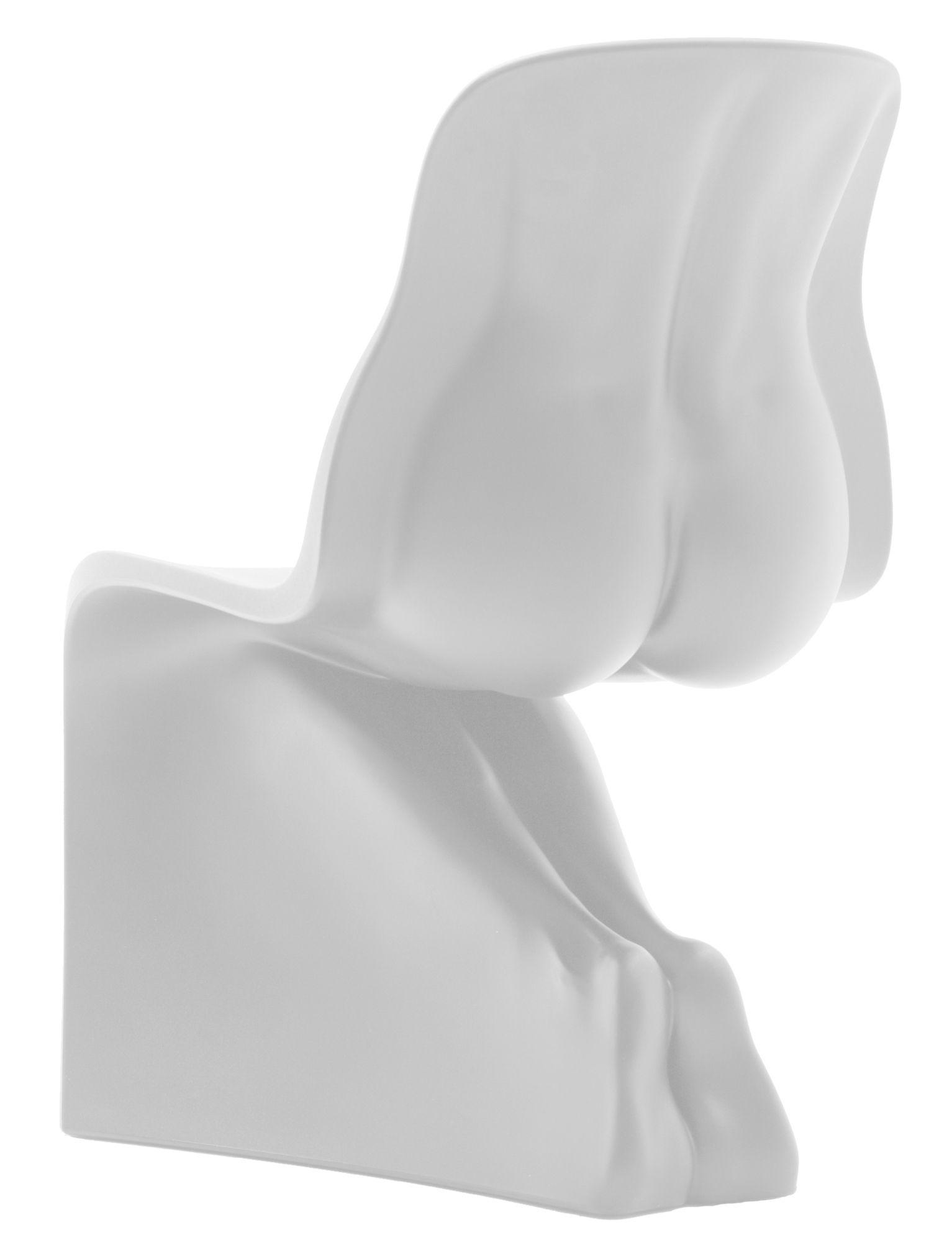 Mobilier - Chaises, fauteuils de salle à manger - Chaise Her / Plastique - Casamania - Blanc - Polyéthylène